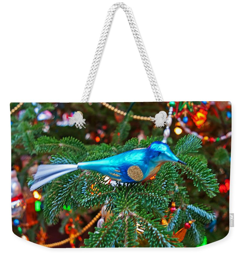 Christmas Weekender Tote Bag featuring the photograph Christmas Bling #3 by Rich Walter