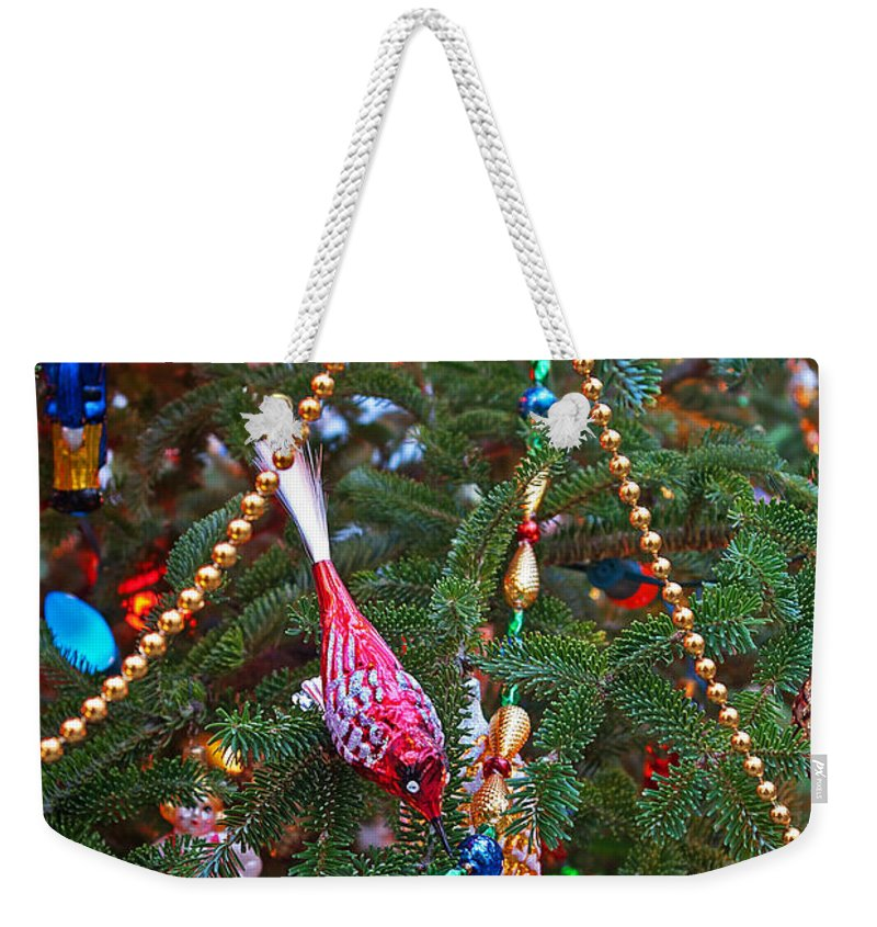 Christmas Weekender Tote Bag featuring the photograph Christmas Bling #5 by Rich Walter