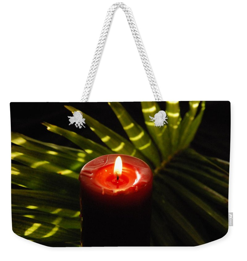 Candle Weekender Tote Bag featuring the photograph Christmas Candle by Susanne Van Hulst