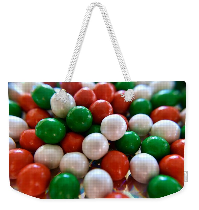 Candy Weekender Tote Bag featuring the photograph Christmas Candy by Bri Lou