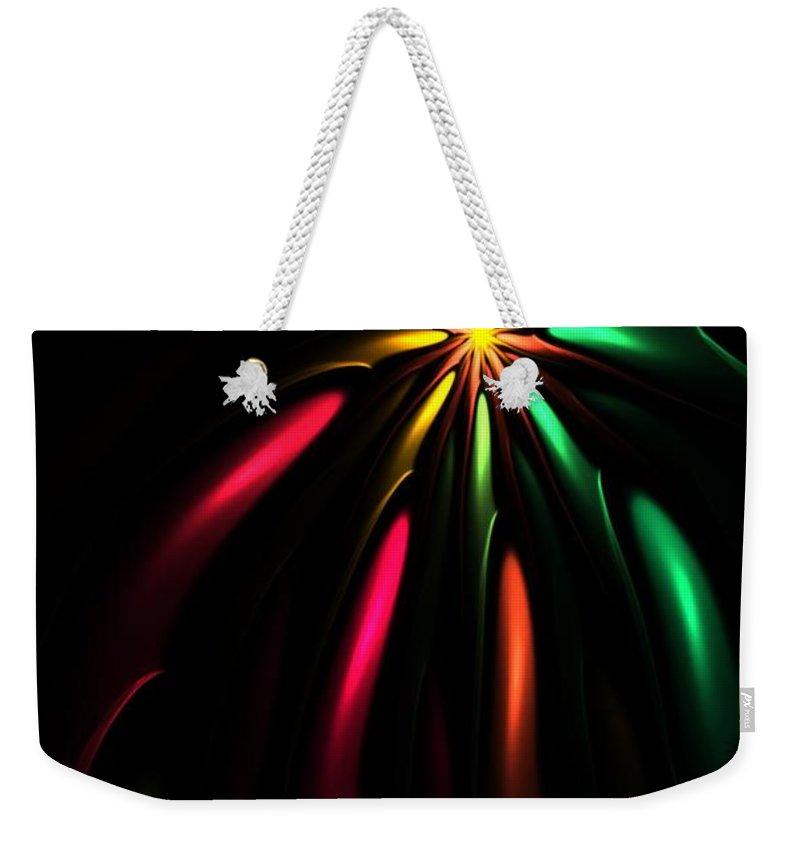 Christmas Card Weekender Tote Bag featuring the digital art Christmas Card 110810 by David Lane