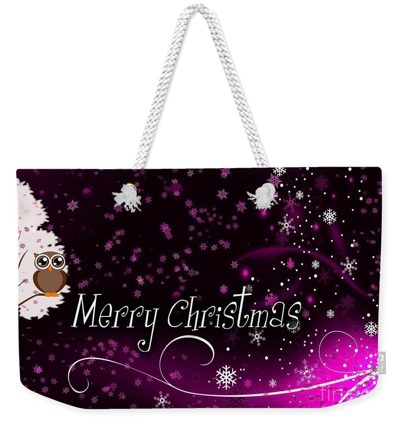 Christmas Weekender Tote Bag featuring the photograph Christmas Card 2 by Nina Ficur Feenan