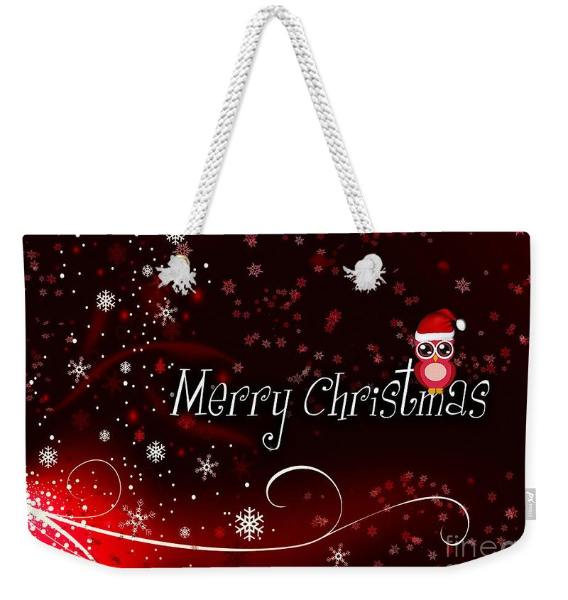 Christmas Weekender Tote Bag featuring the photograph Christmas Card 3 by Nina Ficur Feenan