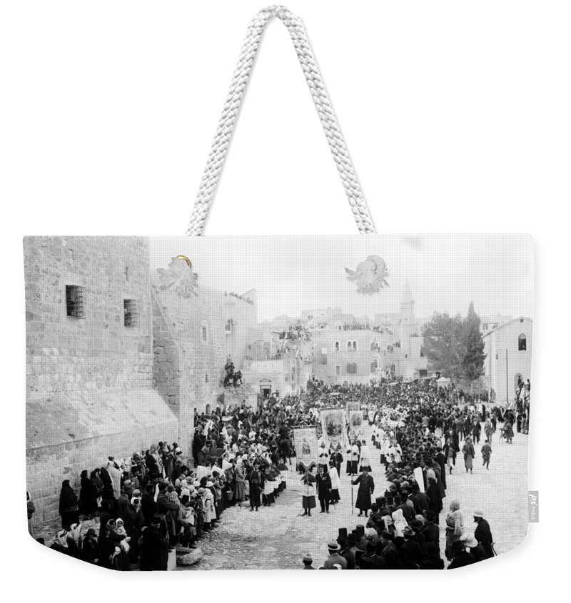 Christmas Weekender Tote Bag featuring the photograph Christmas Celebration 1900s by Munir Alawi