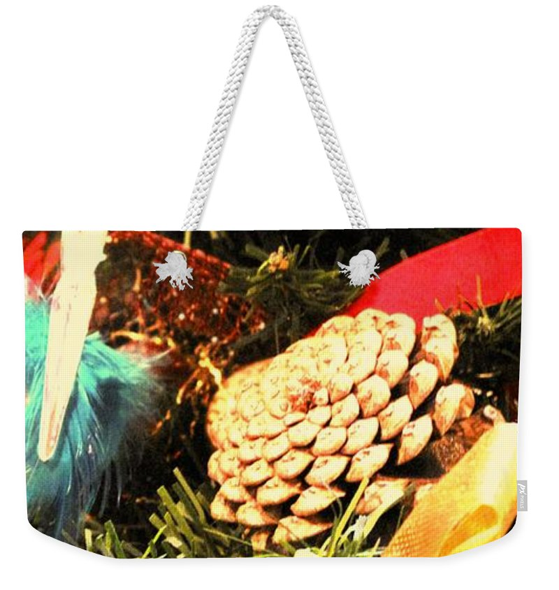 Christmas Weekender Tote Bag featuring the photograph Christmas Decorations by Ian MacDonald