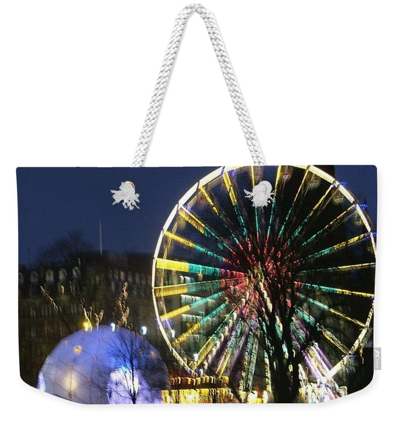 Edinbugh Weekender Tote Bag featuring the photograph Christmas Fair Scotland by Heather Lennox