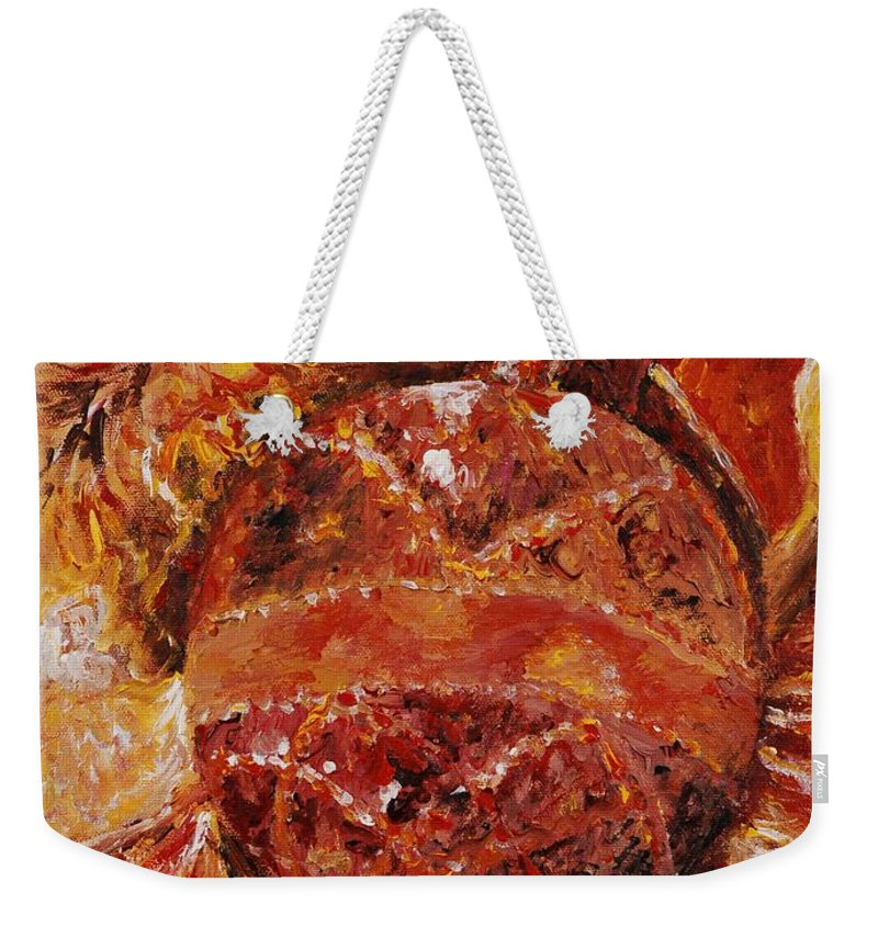 Christmas Weekender Tote Bag featuring the painting Christmas Glitter by Nadine Rippelmeyer