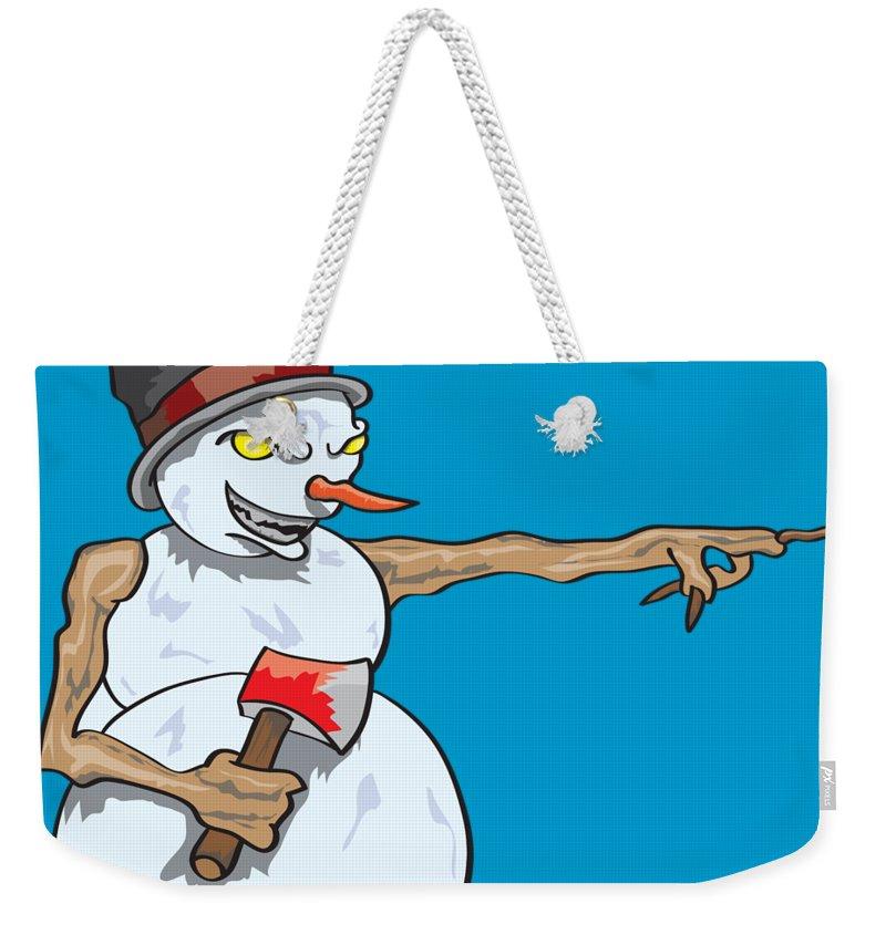 Evil Weekender Tote Bag featuring the digital art Christmas Horror Nightmares by Jorgo Photography - Wall Art Gallery