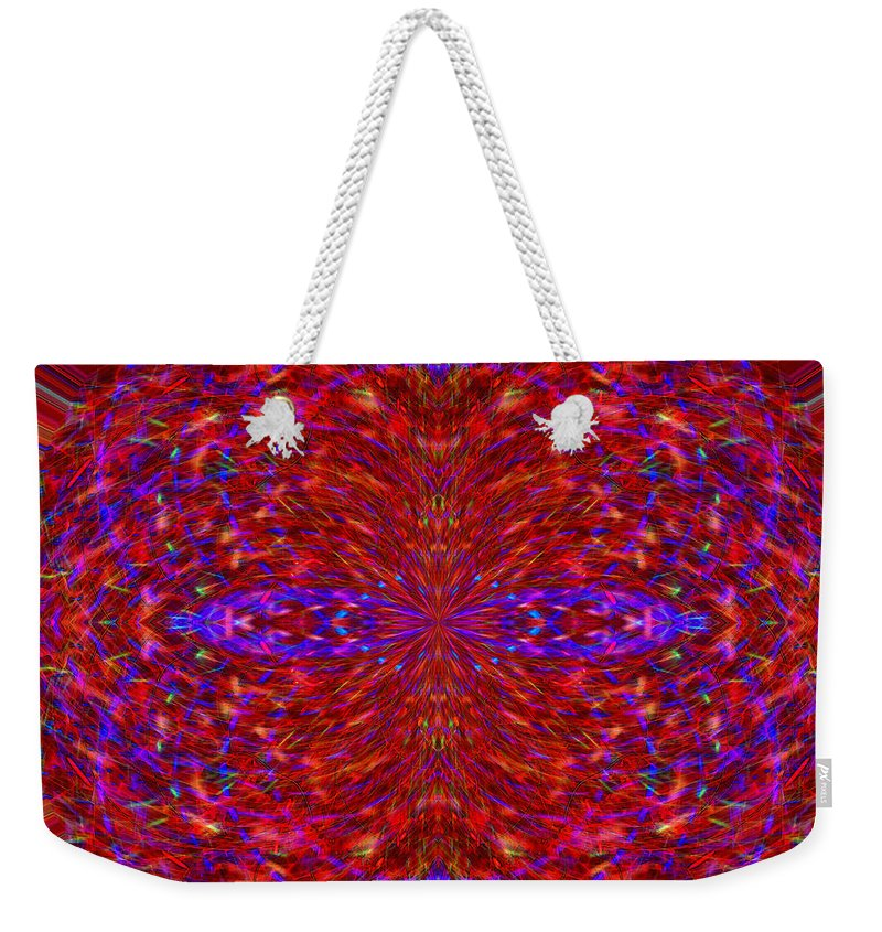 Abstract Weekender Tote Bag featuring the photograph Christmas Light Abstract 3 by Marv Vandehey