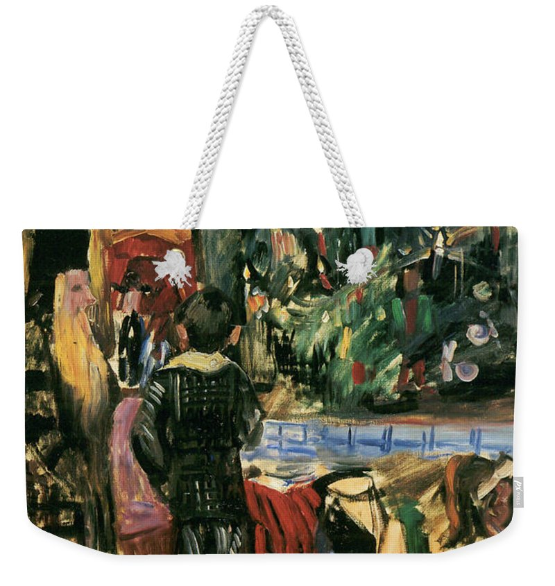 German Painters Weekender Tote Bag featuring the painting Christmas Present by Lovis Corinth