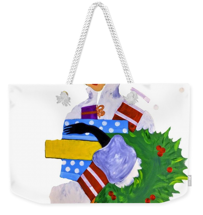 Boise Weekender Tote Bag featuring the photograph Christmas Shopping - Shop On-line by Image Takers Photography LLC - Carol Haddon