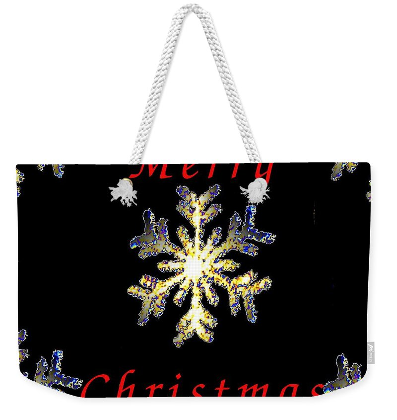 Snow Weekender Tote Bag featuring the photograph Christmas Snowflakes by Tim Allen