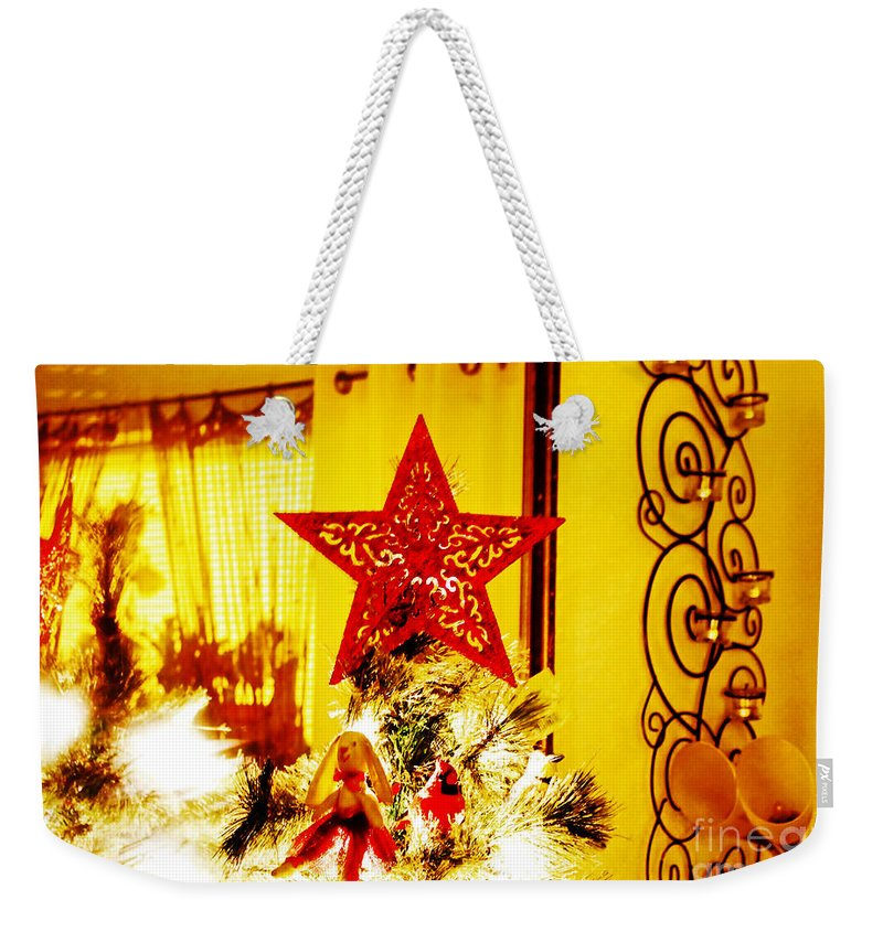 Christmas Weekender Tote Bag featuring the photograph Christmas Star by Don Baker