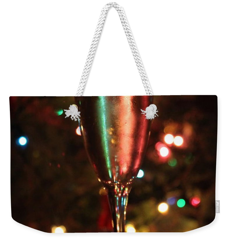 Champagne Weekender Tote Bag featuring the photograph Christmas Toast by Lauri Novak