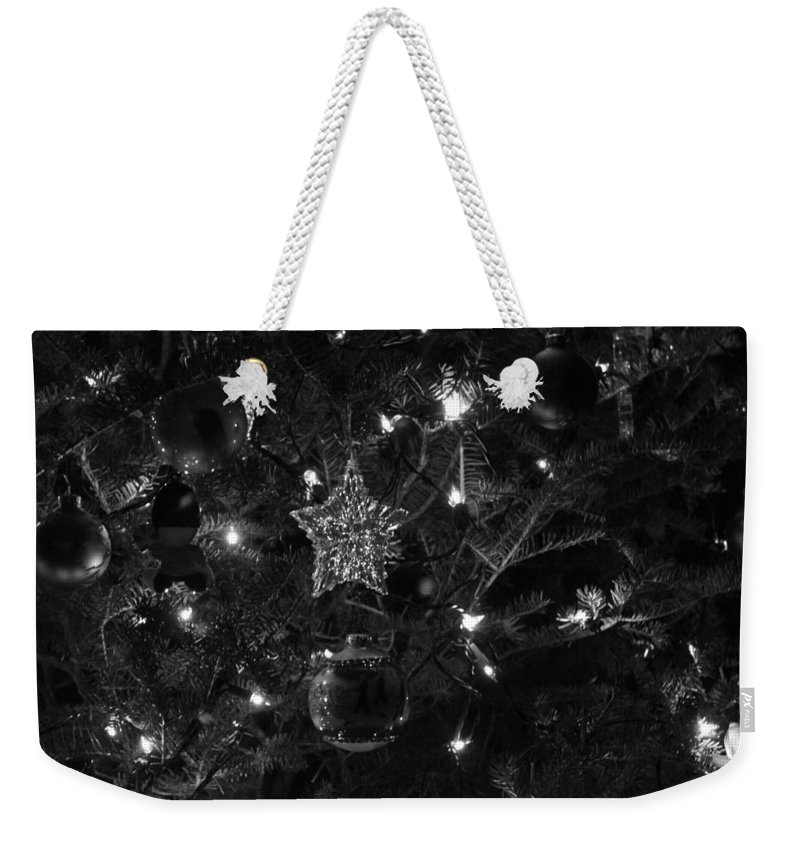 Christmas Weekender Tote Bag featuring the photograph Christmas Tree Decorations by Lauri Novak