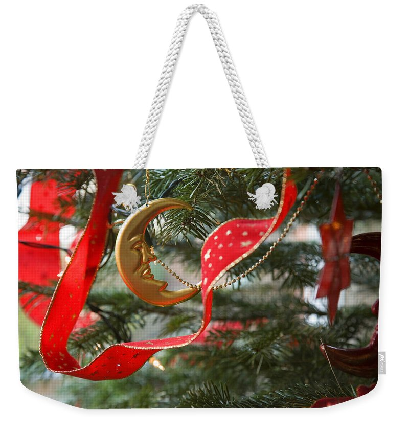 Christmas Weekender Tote Bag featuring the photograph Christmas Tree Decorations by Mal Bray