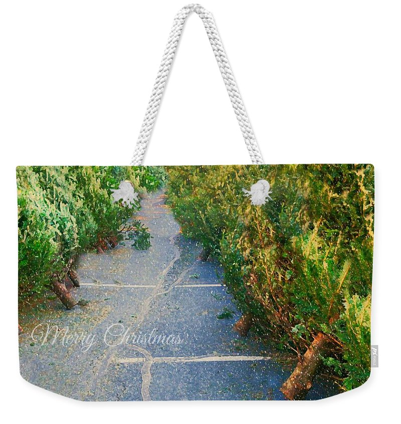 Christmas Trees Weekender Tote Bag featuring the photograph Christmas Trees For Sale by Diana Angstadt