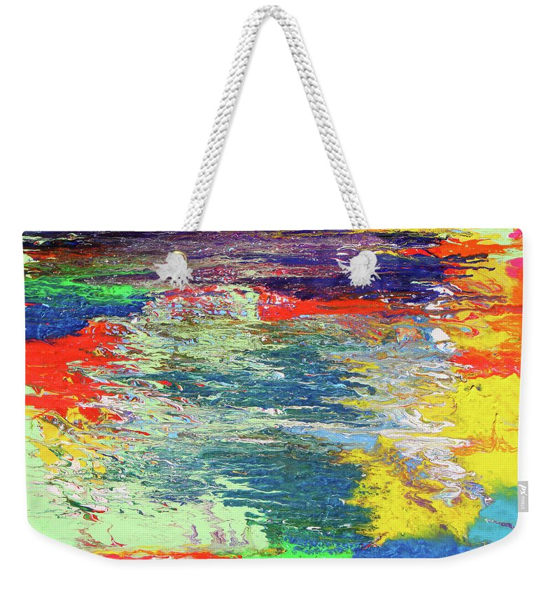 Fusionart Weekender Tote Bag featuring the painting Chromatic by Ralph White