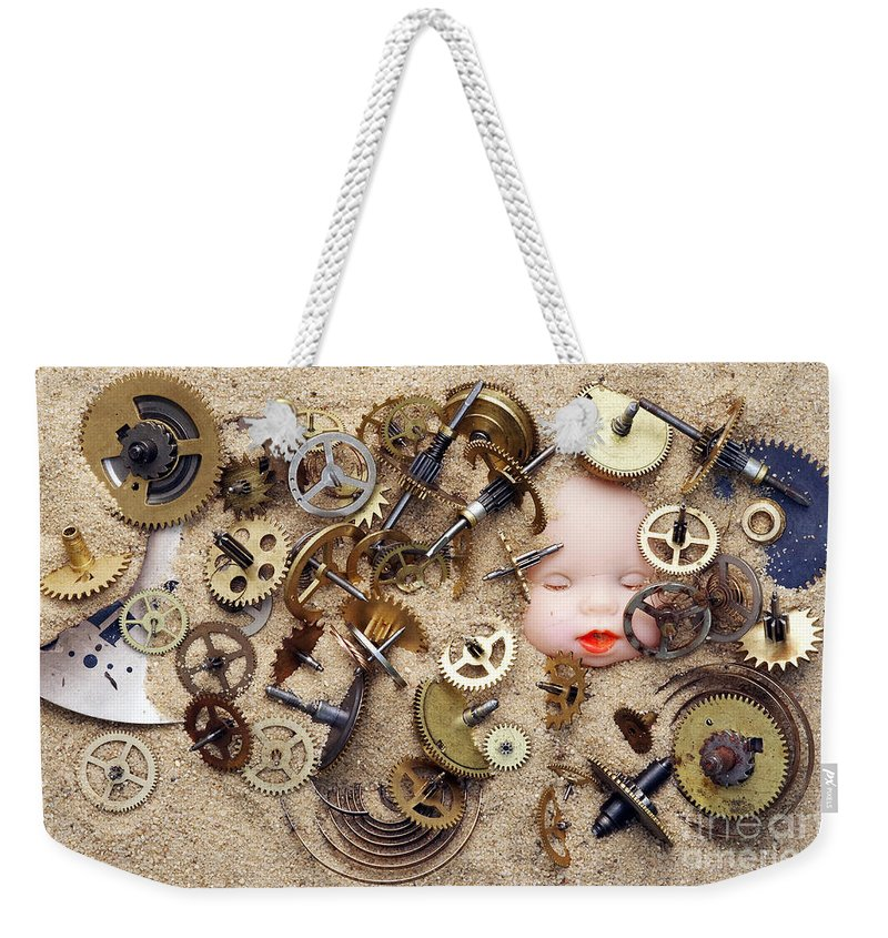 Time Weekender Tote Bag featuring the photograph Chronos - God Of Time by Michal Boubin