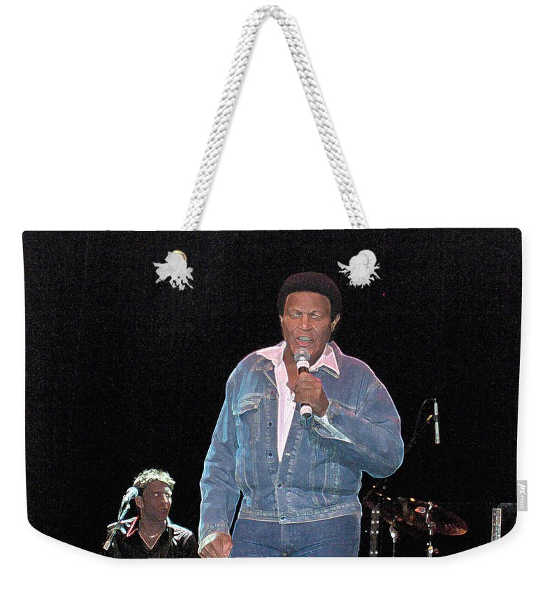 Chubby Checker Singer Bands Music Blues Dance Star Concert Weekender Tote Bag featuring the photograph Chubby Checker by Andrea Lawrence