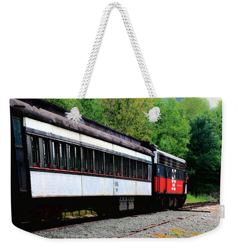 Train Weekender Tote Bag featuring the photograph Chugging Along by RC DeWinter