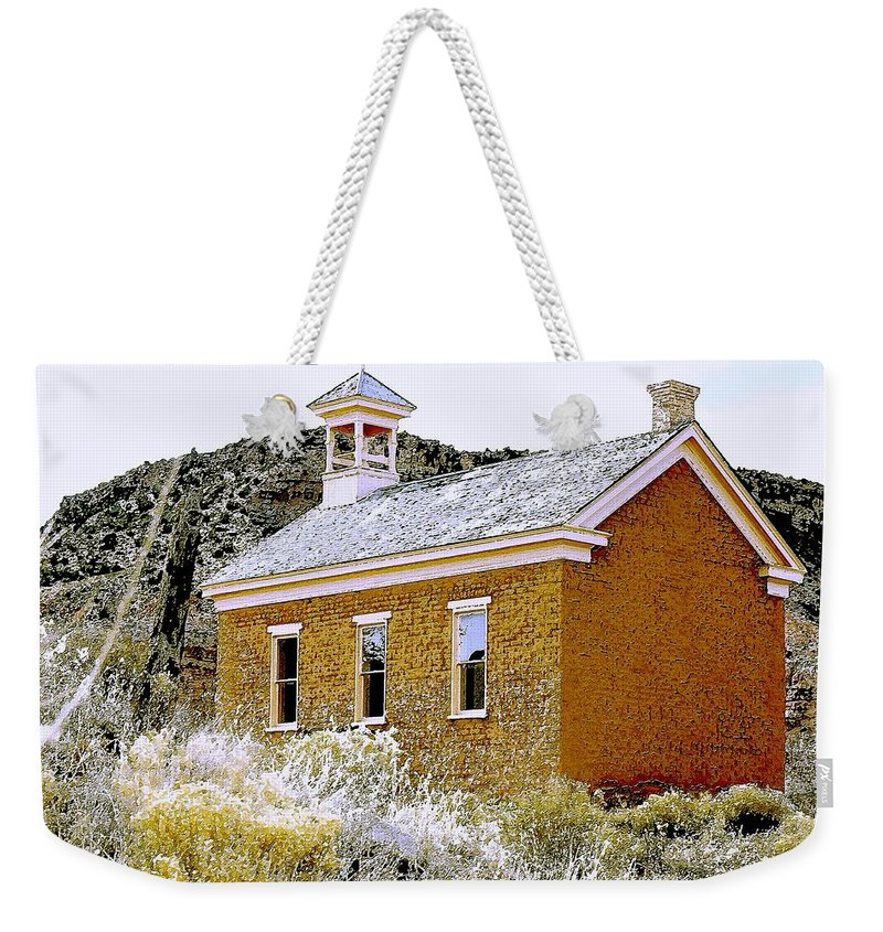 Church Weekender Tote Bag featuring the photograph Church - Grafton Utah by Nelson Strong