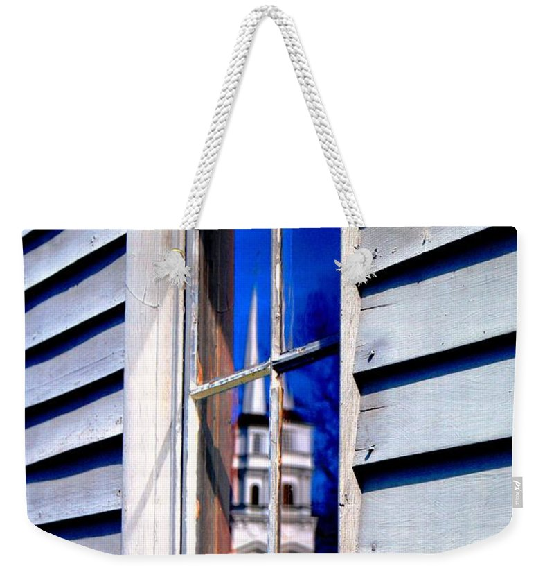 Weekender Tote Bag featuring the photograph Church And State by Daniel Thompson