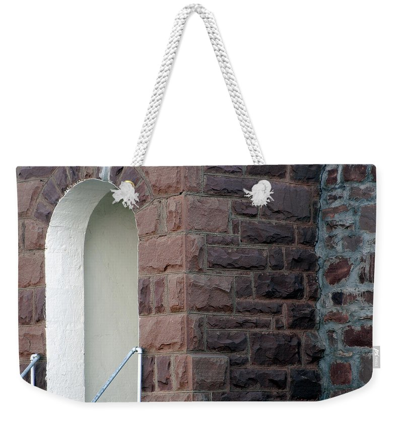 Bricks Weekender Tote Bag featuring the photograph Church At Cuervo - New Mexico by D'Arcy Evans