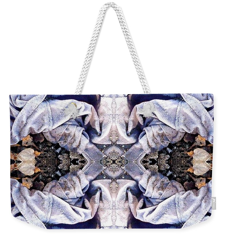 Abstract Weekender Tote Bag featuring the digital art Church Clothing by Ron Bissett