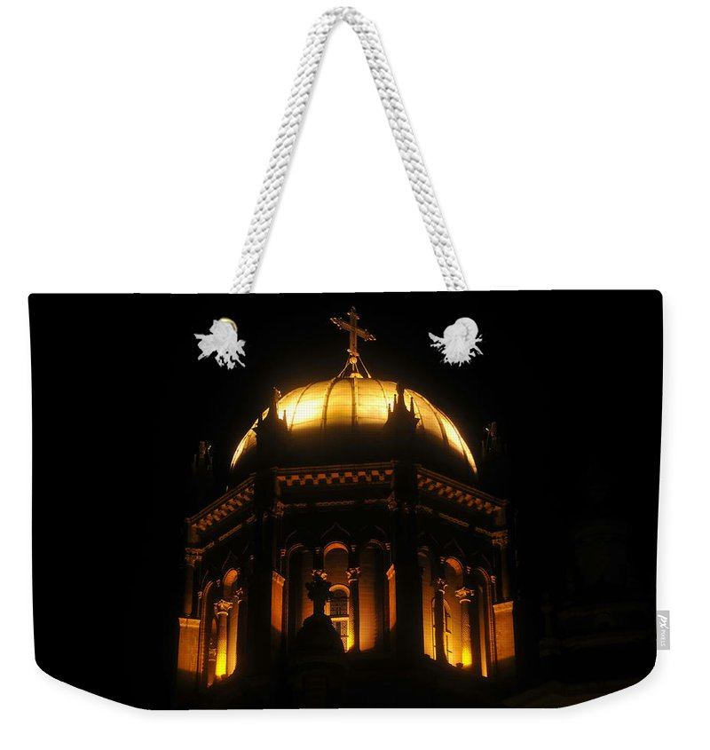 Flagler Memorial Weekender Tote Bag featuring the photograph Church Lights by David Lee Thompson