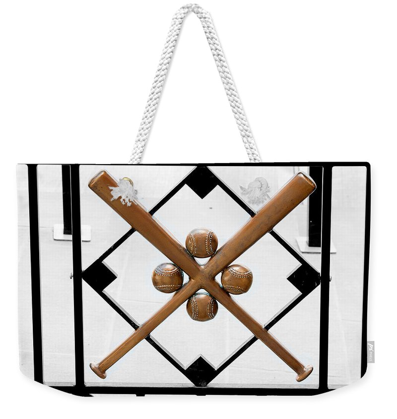 Cooperstown Weekender Tote Bag featuring the photograph Church Of Baseball by Greg Fortier
