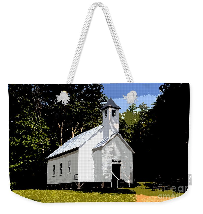Baptist Church Weekender Tote Bag featuring the painting Church Of The Baptist by David Lee Thompson