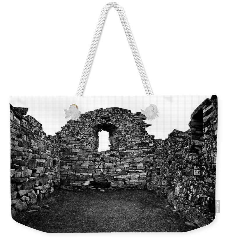 Greenland Weekender Tote Bag featuring the photograph Church Ruins Hvalsey by Juergen Weiss
