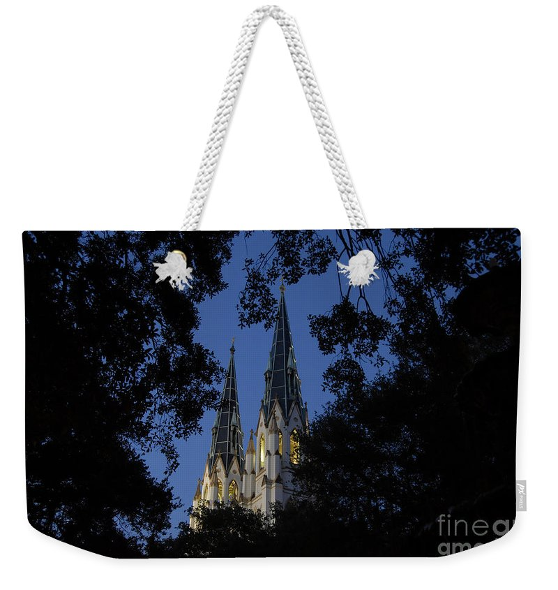 Church Steeple Weekender Tote Bag featuring the photograph Church Steeples by David Lee Thompson