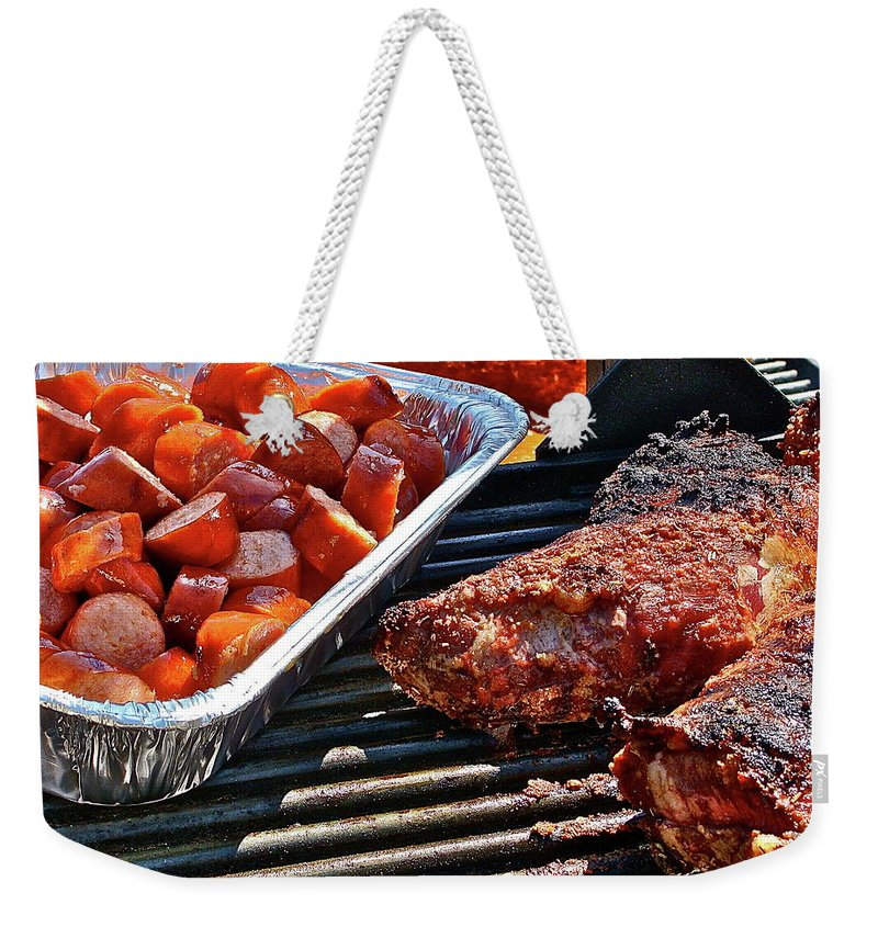 Food Weekender Tote Bag featuring the photograph Church Supper by Diana Hatcher