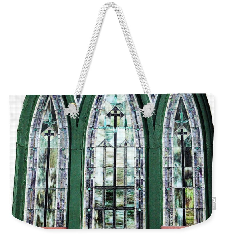 Window Weekender Tote Bag featuring the photograph Church Window by Amanda Barcon