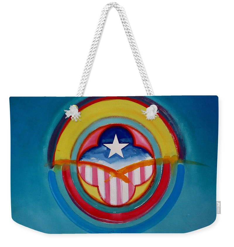 Button Weekender Tote Bag featuring the painting CIA by Charles Stuart