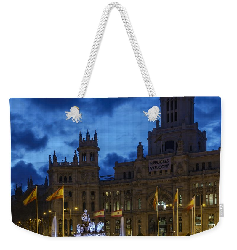 Spain Weekender Tote Bag featuring the photograph Cibeles Fountain Madrid Spain by Pablo Avanzini