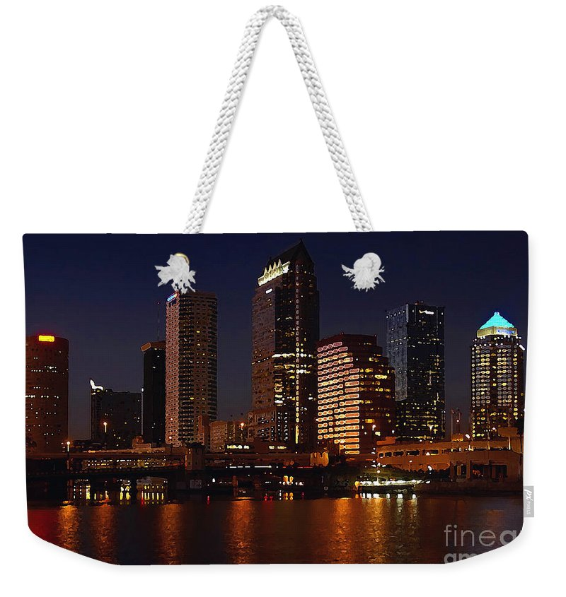 Tampa Florida Weekender Tote Bag featuring the photograph Cigar City by David Lee Thompson