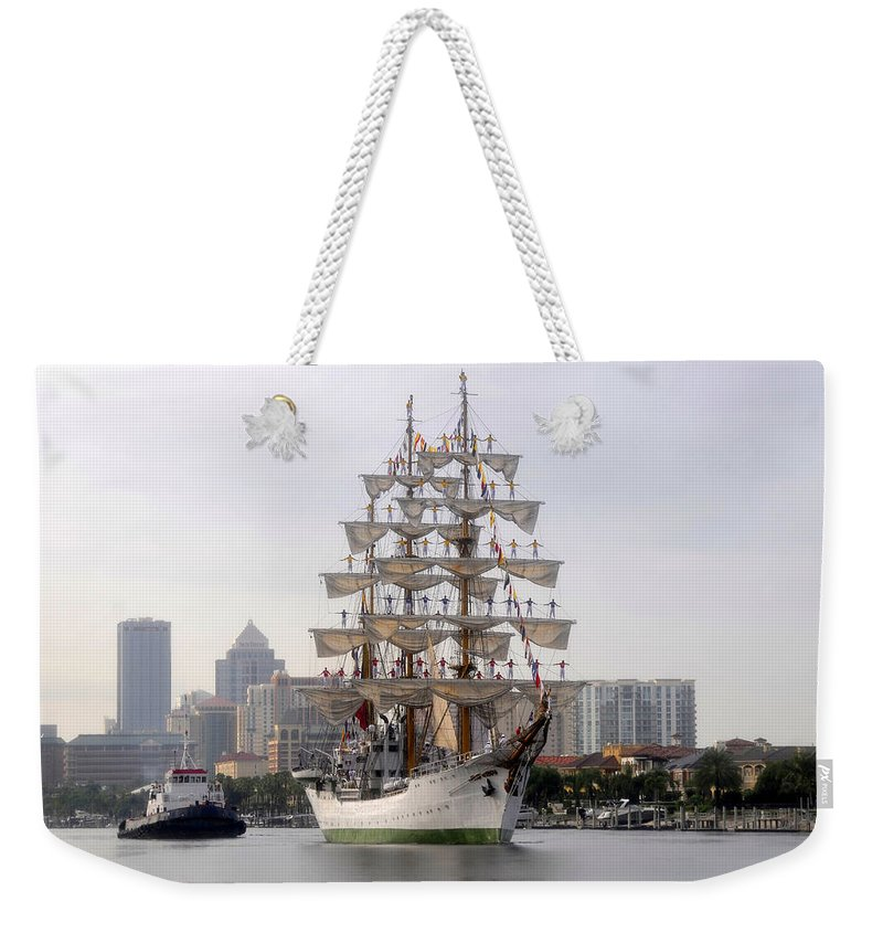 Tampa Florida Weekender Tote Bag featuring the photograph Cigar City Sailing by David Lee Thompson