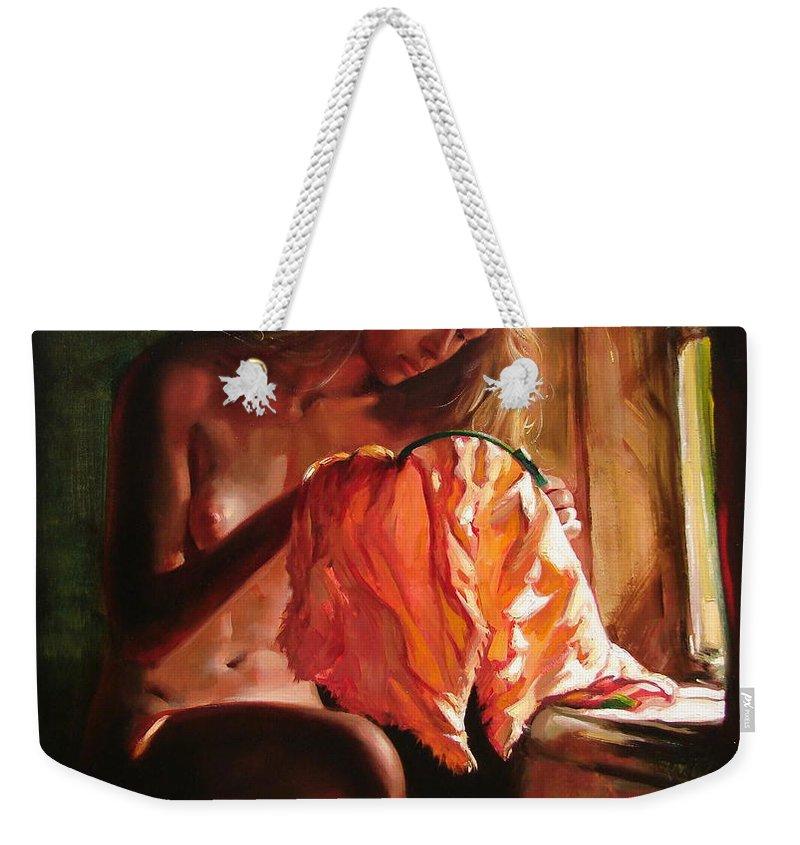 Ignatenko Weekender Tote Bag featuring the painting Cinderella by Sergey Ignatenko