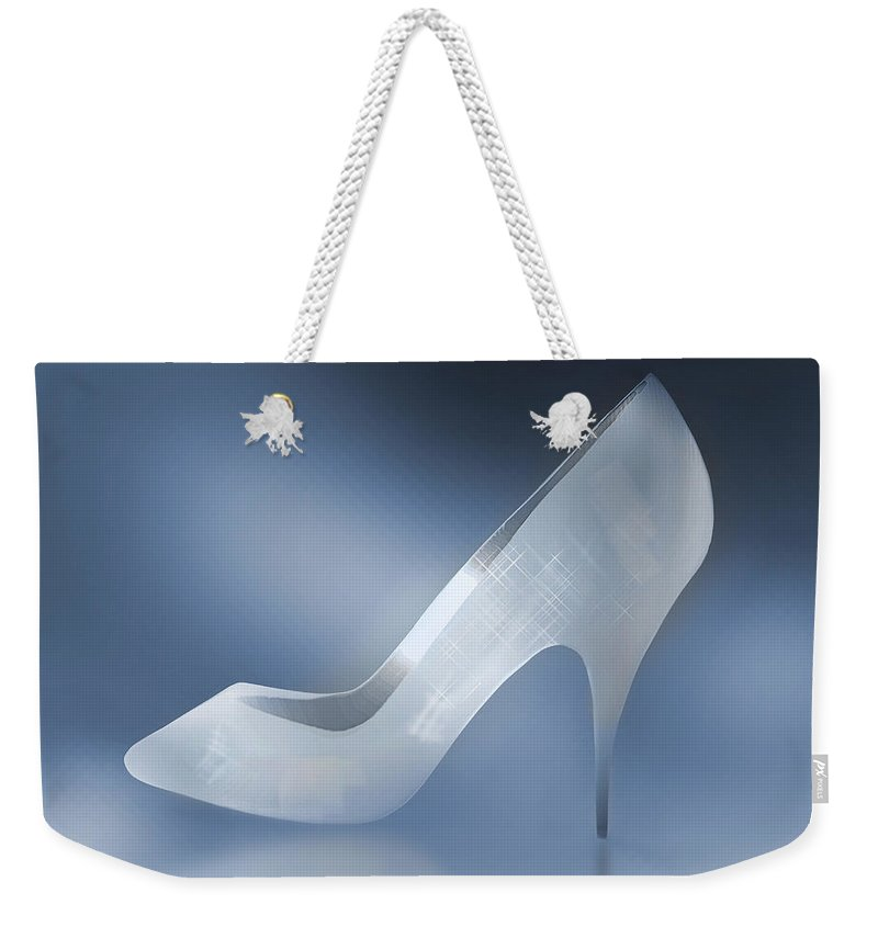 Shoes Weekender Tote Bag featuring the photograph Cinderella's Slipper by Yuri Lev