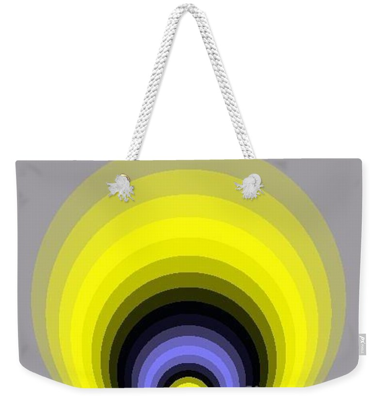 Digital Art Weekender Tote Bag featuring the digital art Circle I by Dragica Micki Fortuna