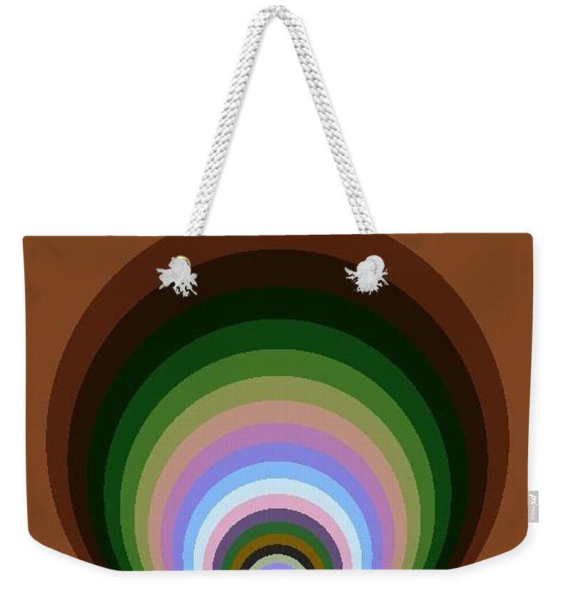 Digital Art Weekender Tote Bag featuring the digital art Circle II by Dragica Micki Fortuna