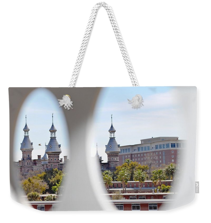 University Of Tampa Weekender Tote Bag featuring the photograph Circle Ot Tampa by Jost Houk
