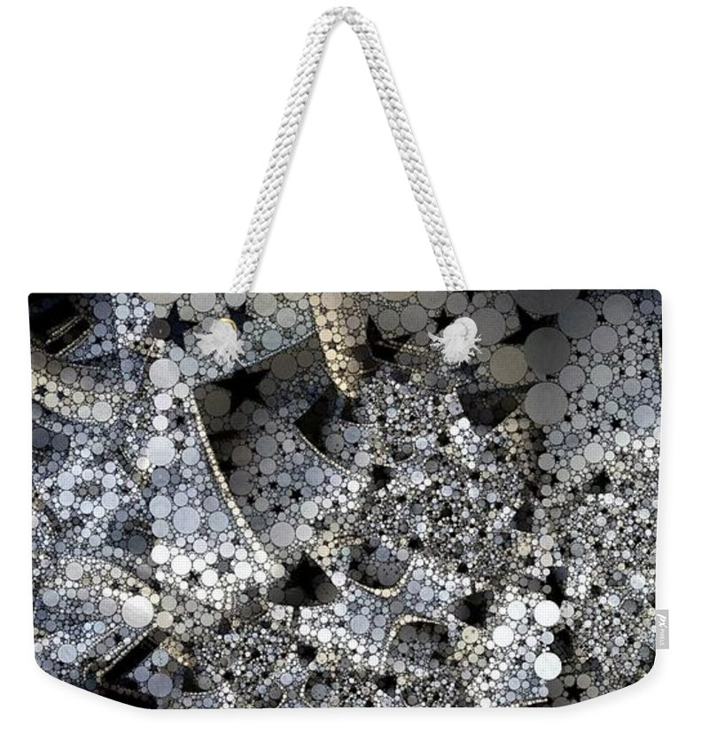 Collage Weekender Tote Bag featuring the photograph Circles And Stars by Ron Bissett