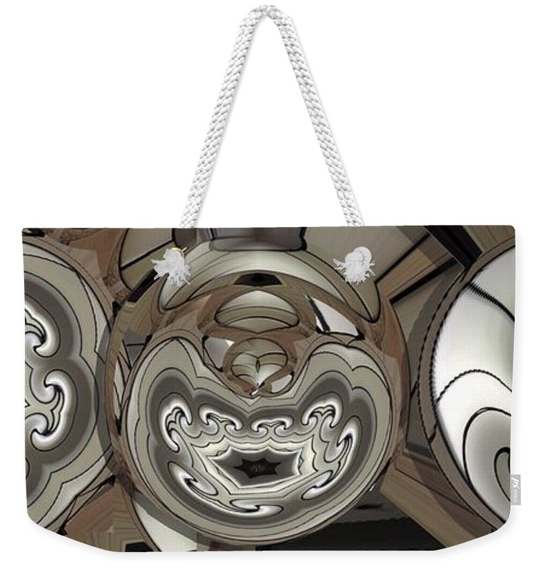 Collage Weekender Tote Bag featuring the digital art Circlewood by Ron Bissett
