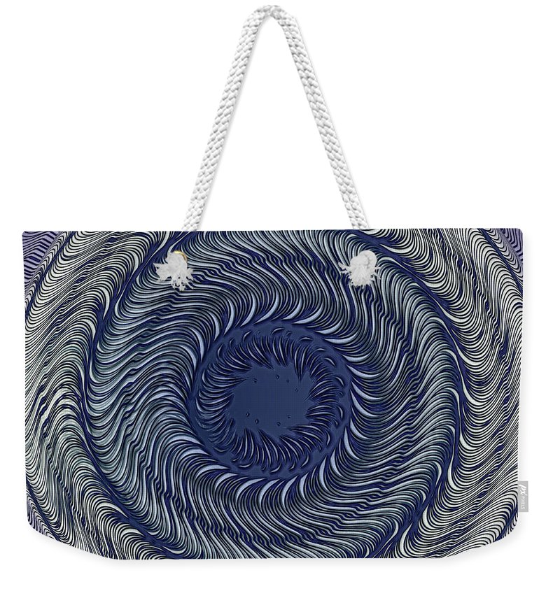 Abstract Weekender Tote Bag featuring the photograph Circular Abstract 9 by Eleanor Bortnick