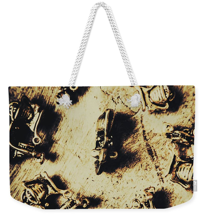 Italian Weekender Tote Bag featuring the photograph Circular Parade Of Scooter by Jorgo Photography - Wall Art Gallery