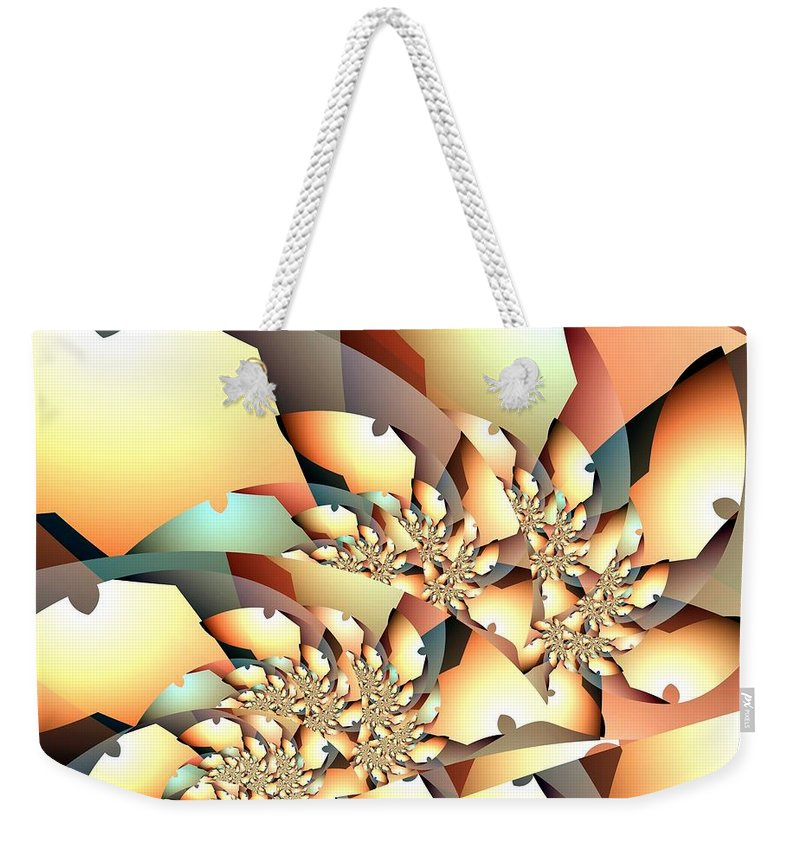 Saw Blade Weekender Tote Bag featuring the digital art Circular Saw by Ron Bissett